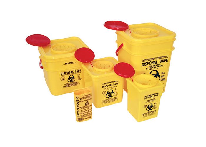 Yellow Sharp Container